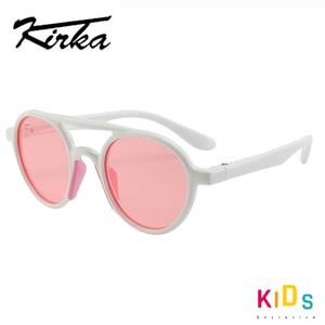 Image 3 - ยืดหยุ่นแว่นตากันแดดเด็กPolarizedเด็กPilotแว่นตาTR90 UV400สำหรับ7 12ปีเด็กหญิงเด็กแว่นตาเด็ก