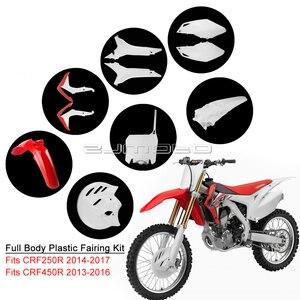 Motocross Bodywork Fairing For Honda CRF450R CRF250R CRF450 CRF250 ABS Plastic Fender Side Frame Covers Rear Mudguard Panel