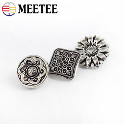 100/200pcs Retro Flower Metal Buttons Antique Silver Jeans Button Coat Decorative Botones DIY Sewing Accessories C2-61