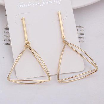 Γεωμετρικά glamour γυναικεία σκουλαρίκια