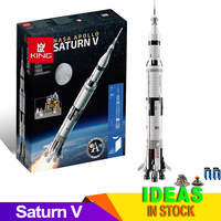 IDEAS Compatible 21309 80013 Apollo Saturns V Space Launch Model Rocket program Kids Christmas Gifts Science Building Kit