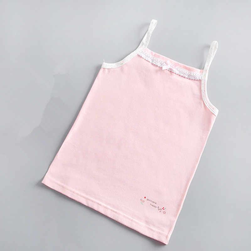 תינוק בנות ללא שרוולים טנקי וסטים ילדים כותנה תחרה פרחי בגדי תינוק בנות בגדי ילדים חולצות tees חולצות 4095 01