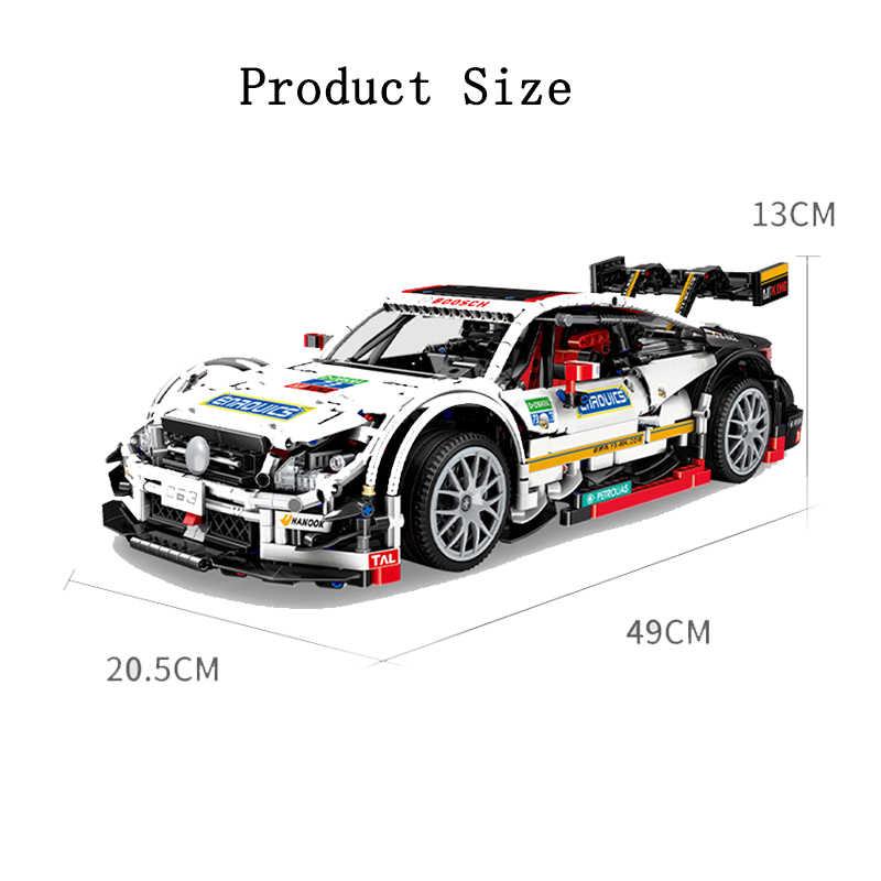 Super Racing Auto Bausteine Technik Auto Serie C63 Modell Ziegel Spielzeug für Erwachsene Kinder Geschenke