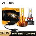 HlXG Новая Серия автомобильных светодиодных ламп для авто H4 H7 Led H1 H11 9005 HB3 Led 9006 Hb4 H8 6000K Ближний свет дальний свет диодные противотуманные фары д...