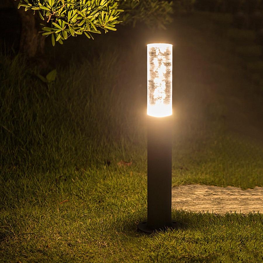 BEIAIDI 7W Waterproof Acrylic Bubbles Pillar Lawn Lamp Outdoor Stand Pole Column Lawn Light Villa Garden Pathway Landscape Light