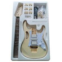 Premium DIY Electric Guitar Kit - Unfinished Project Guitar Kit Handcraft Electric Guitar for Guitar Basswood Maple Body