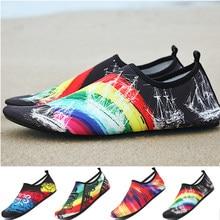 Chaussures d'eau respirantes en caoutchouc pour hommes et femmes, sandales de plage en amont, chaussettes de plongée, tennis mas