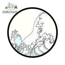 Earlfamily 13cm x 13cm para surf onda mar tendências adesivos de carro e decalque anime moda oclusão zero criativo suv decoração