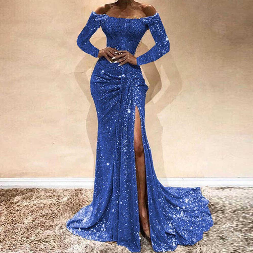 SHUJIN נשים תחרה סקסי שמלת אופנה לבוש הרשמי עד לקיר אורך 2020 חדש ללא שרוולים מסיבת ערב Slim Fit ארוך שמלות