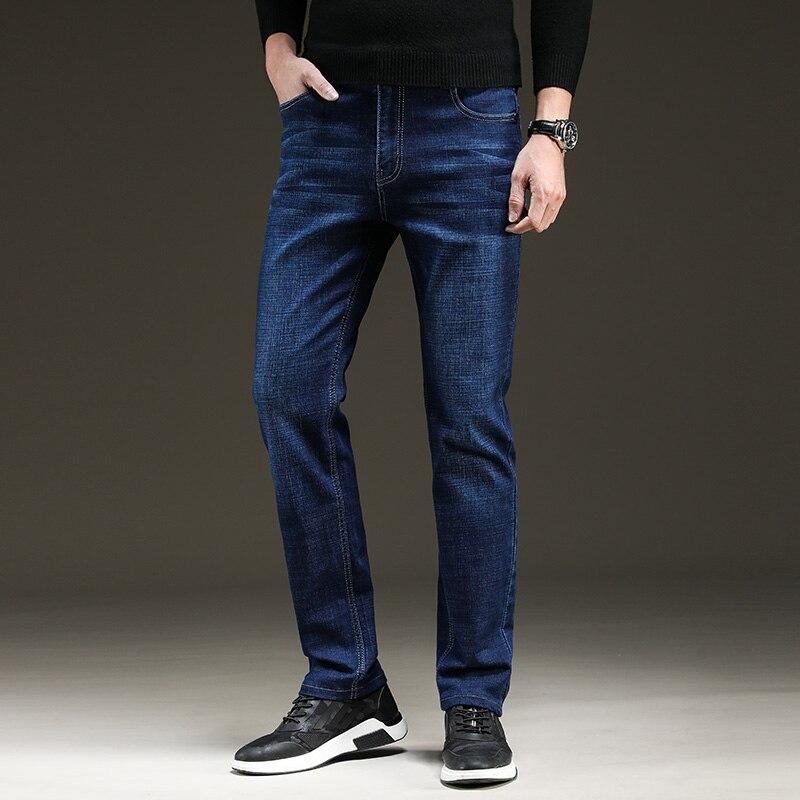 XuanSheng stretch men's jeans 2019 straight brand blue black street clothing classic fashion wash comfortable long pants jeans 2