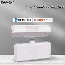Cerradura inteligente para gabinete, cerrojo Invisible con Bluetooth, Tuya, aplicación inteligente, sin llave, para muebles de oficina y casa
