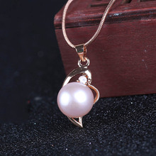 Natural freshwater pearl inlaid 925 sterling silver short necklace pendant ladies wild clavicle chain jewelry gifts
