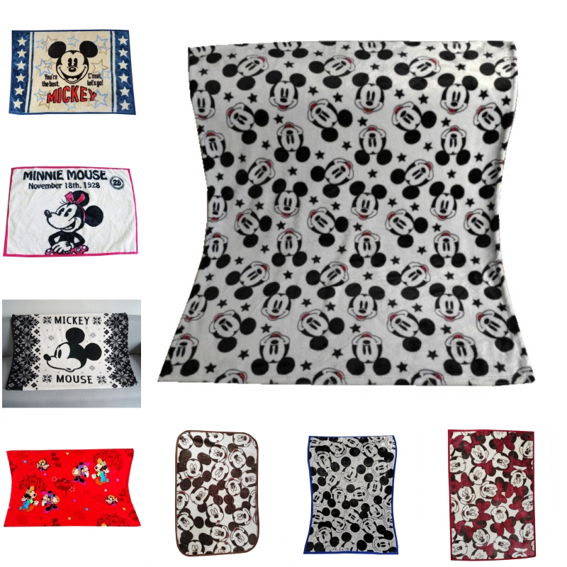 Disney Cartoon Mickey Minnie Mouse Tangled Kids Blankets Mini Throw 70x100cm Small Blanket For Baby Child On Bed Crib Plane Car