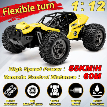 NEW 1:12 RC Car Scale Remote Control Car 48 +km/h High Speed Off Road Vehicle Toys RC Car for Kids and Adults 1