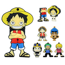 Ein Stück USB Pirate Luffy-Stick Pirate Mini geschenk 4GB 8GB 32GB 128 64 256 gb stick 16GB Stift drive USB Disk Memory Stick