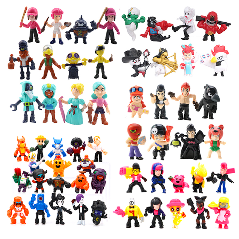 New Game Brawl Star Action Figure Star Hero Shelly Colt Nita Bull Jessie Brock Dynamike Bo El Key Chain Pvc Collection Model Toy