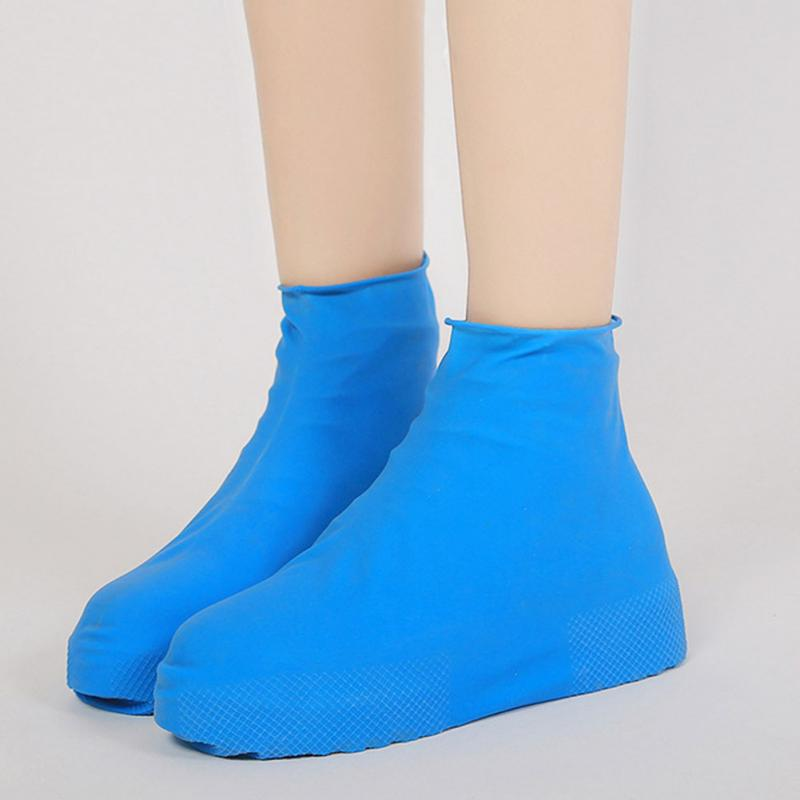 Anti-Slip Waterproof Shoe Cover Silicone Material Unisex Shoes Protectors Rain Boots For Indoor Outdoor Rainy Days