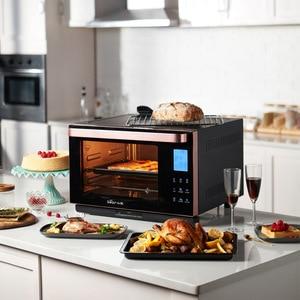 Электрическая духовка Bear Паровая, домашняя электрическая духовка с объемом 28 литров, 30 смарт-досок, с тостером, для приготовления пищи, для п...