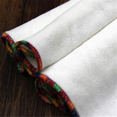 fibra de bambu do bebe toalhetes reutilizaveis