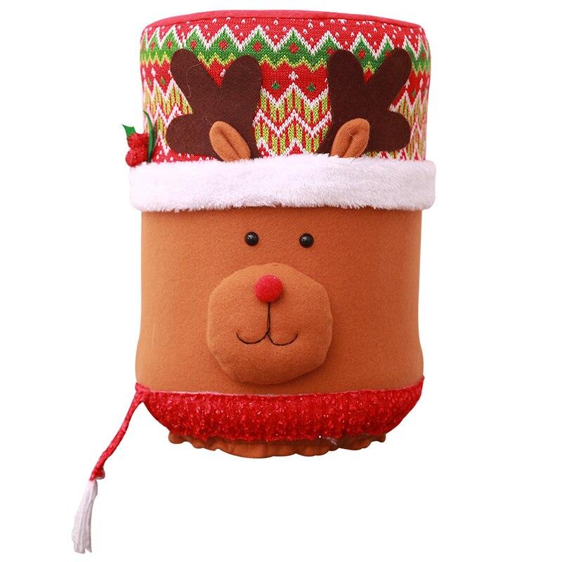 Горячая Рождество Пылезащитная крышка воды емкостный диспенсер контейнер очиститель бутылки Рождественский Декор - Цвет: B
