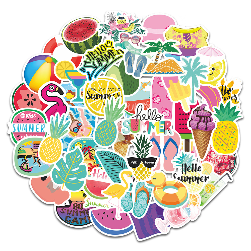 Summer Lovin' Sticker Pack (50 piece) 1