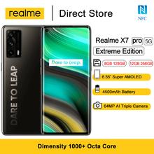 Realme X7 Pro Extreme Edition 5G Smartphone 6 55 #8222 Super AMOLED Dimensity 1000 + 64MP aparat 65W inteligentne ładowanie błyskowe telefony komórkowe tanie tanio Niewymienna 128G CN (pochodzenie) Android Rozpoznawania linii papilarnych Rozpoznawanie twarzy ≈64MP 4500 FlashCharge