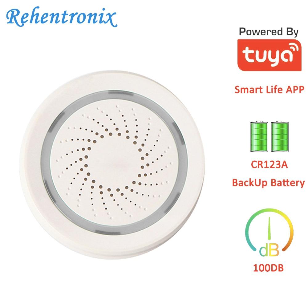 Smart Tuya Wireless WiFi Sound Siren Alarm Emit 100DB Sound To Scare Off Burglars Smart Life APP