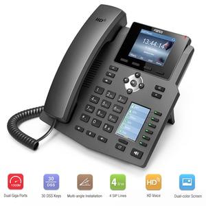 Image 3 - Fanvil x4/x4g ip 전화 엔터프라이즈 voip 전화 hd 음성 사무실 sip 전화 지원 ehs 무선 헤드셋 무선 고정 전화