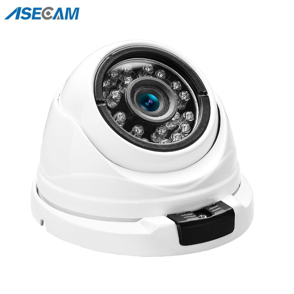 Kamera HD 5MP IP POE H.265 Onvif Mini metalowa biała kopuła zewnętrzna wodoodporna CCTV 2.8mm szeroki kąt 1080P kamera monitorująca