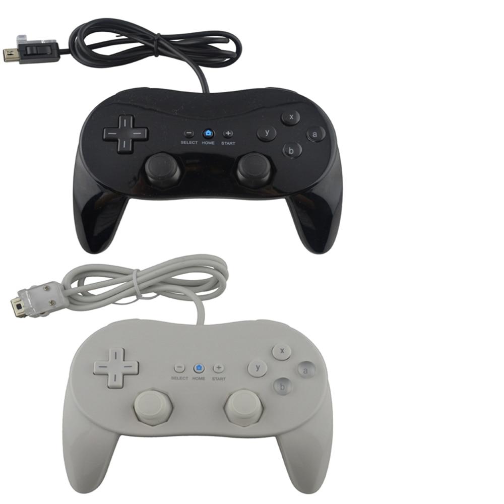 1 pçs novo com fio clássico pro controlador gamepad jogo joystick para wii clássico console de segunda geração
