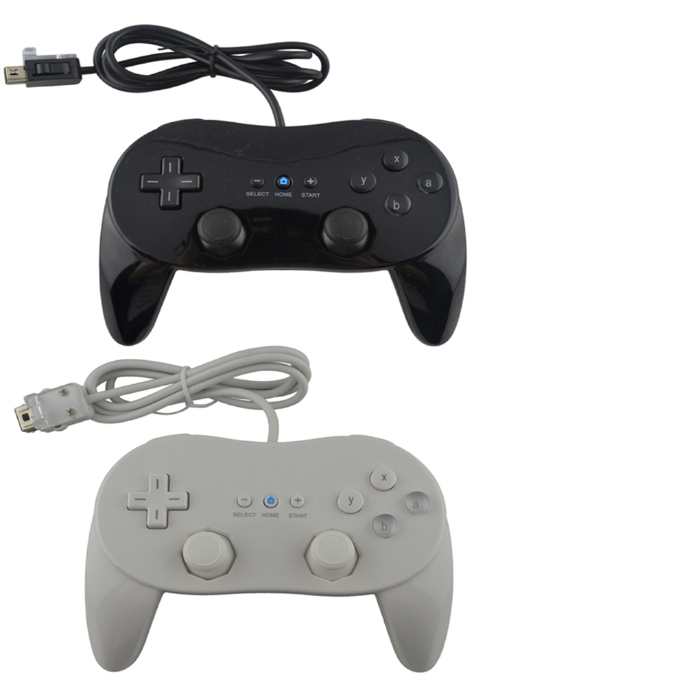 1pcs new Wired Classic Pro Controller Gamepad Game Joystick For Wii classic console Second-generation(China)