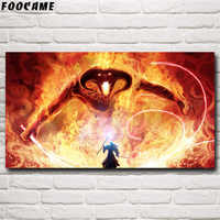 FOOCAME Gandalf Der Herr der Ringe Balrog-sonnenbrille Fantasy Film Art Silk Poster und Drucke Hause Wand Dekoration Bilder Malerei