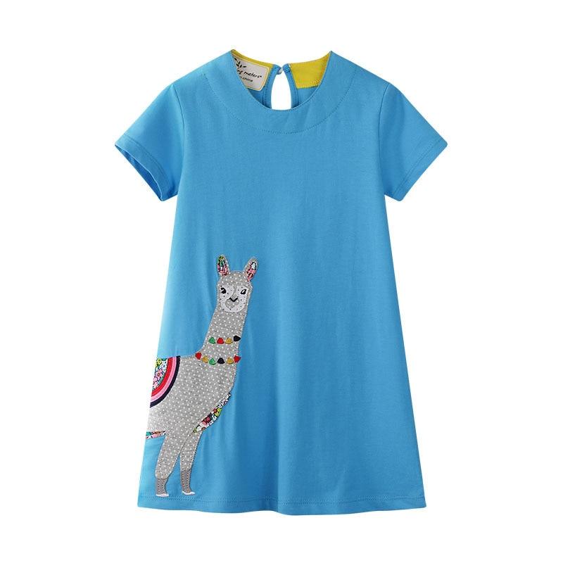 Купить платье для девочек хлопковая детская одежда с мультяшным принтом
