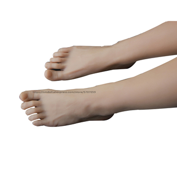 One piece of Silicone Foot Mannequin  Mannequin Foot with Bone Display Jewelry Sandal Shoe Sock Display Art Sketch realistic silicone lifelike soft mannequin foot ,foot fetish toymodel sexy vivid silicone female