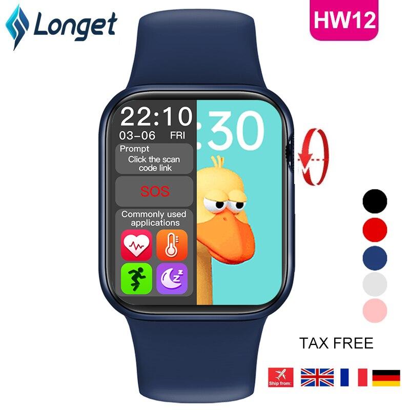 LONGET Original HW12 Smart Watch 40mm 320 320 Bluetooth call Blood oxygen waterproof smartwatch PK HW16 LONGET Original HW12 Smart Watch 40mm 320*320 Bluetooth call Blood oxygen waterproof smartwatch PK HW16 W56 W46 W26 IWO 6