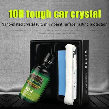 1x10H Capa de cerámica líquida de coche hidrofóbica Glasscoat pintura para cuidado de moto Anti-arañazos de detalles del automóvil de revestimiento de cristal de