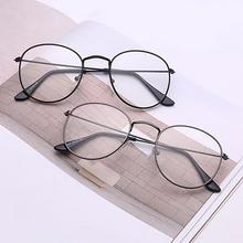Unisex Fashion Classic Gold Metal Frame Glasses women men Classical vintage style optical For reading