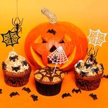 Halloween Spider Web Cake Topper Decoration Dessert Logo April Fools Day Childrens Birthday Party DIY Supplies
