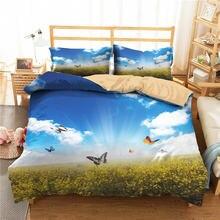 Комплект постельного белья с 3d рисунком бабочки на луг для