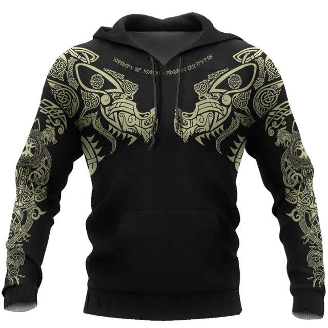 Viking Tattoo 3D Printed Men hoodie 4