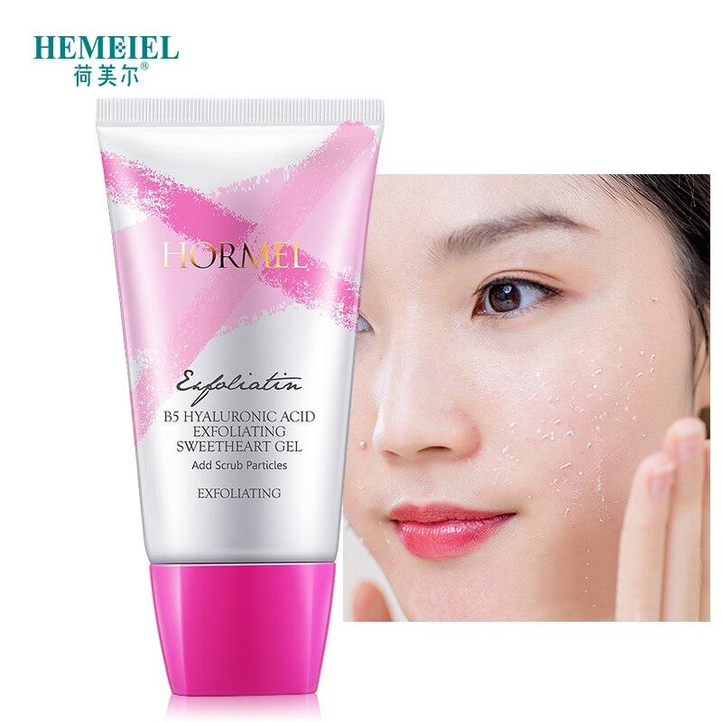 HEMEIEL Exfoliating Peeling Gel Deep Clean Hyaluronic Acid Smoothen Facial Scrub Gel Polish Acne Blackhead Remove Face Cleanser 1