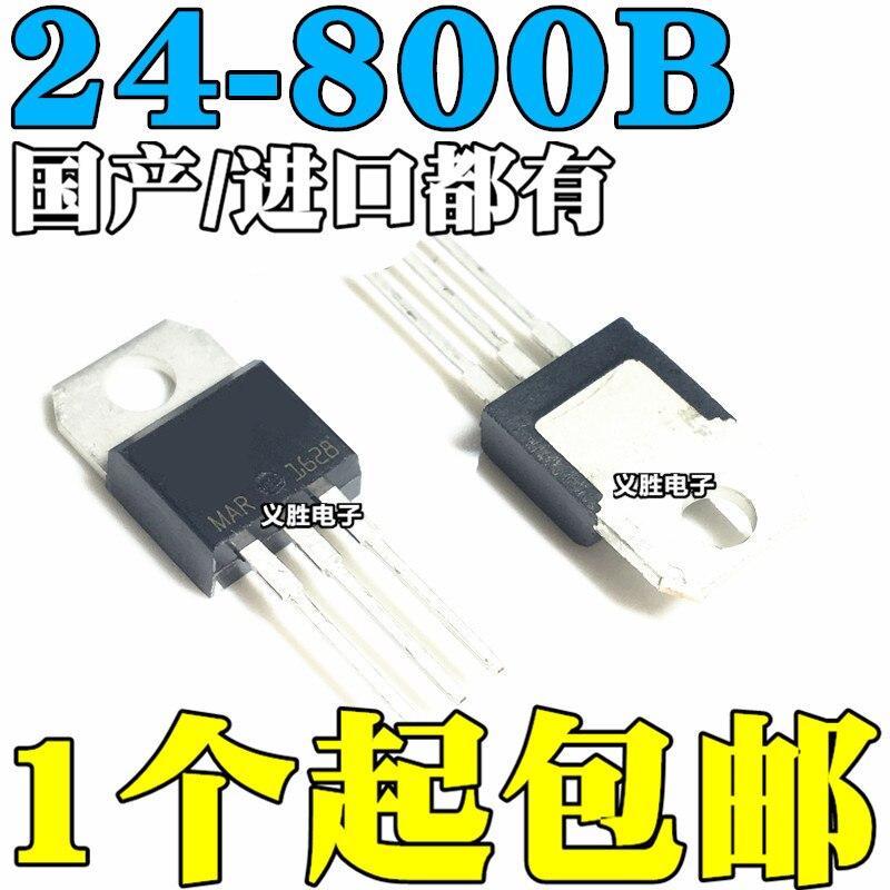 6 pces BTA24-800B bta24 BTA24-800 triacs 25 ampères 800 volts para-220 original novo