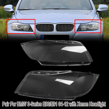 MagicKit Headlight Cover Shell Xenon Headlight Glass Lens Automobiles Headlamp Lense Kit Fit for BMW 3Ser E90 E91 Touring 05-12