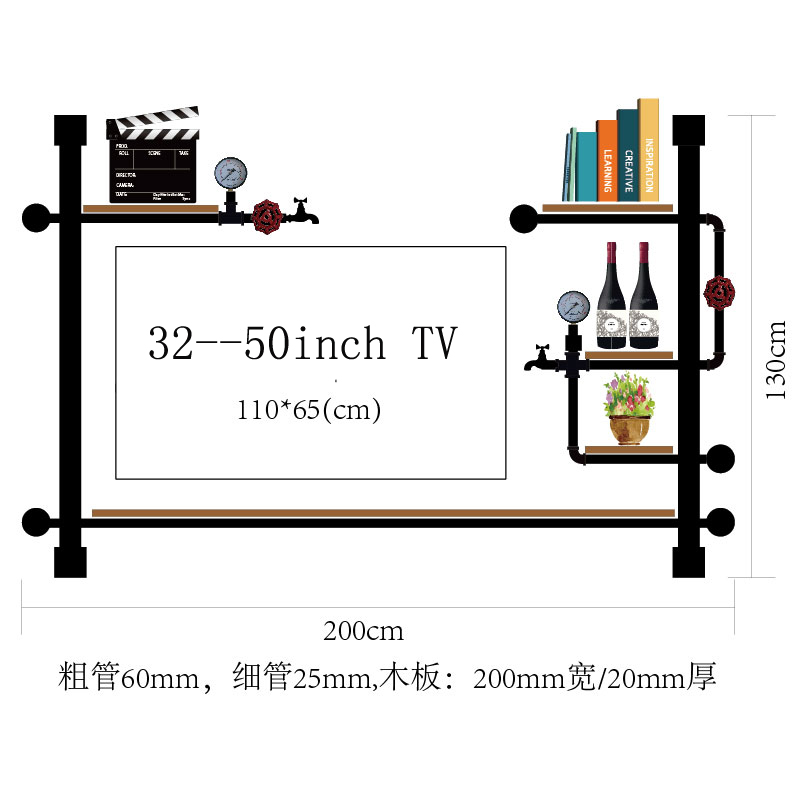 200*350CM Fashion Bar Red Wine Goblet Glass Hanger Multi-storey Wall Wine Rack Antique Design Holder Hanging Rack