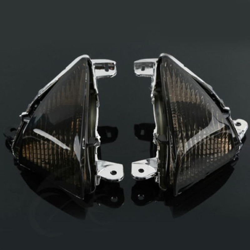 Motorcycle Black Clear Lens Turn Signal Indicators For KAWASAKI ZX10R 2006-2007 ZX6R 05-11 Z1000 2007-2012 2008 2009 2010 2011