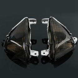 Motorcycle Black/Clear Lens Turn Signal Indicators For KAWASAKI ZX10R 2006-2007 ZX6R 05-11 Z1000 2007-2012 2008 2009 2010 2011
