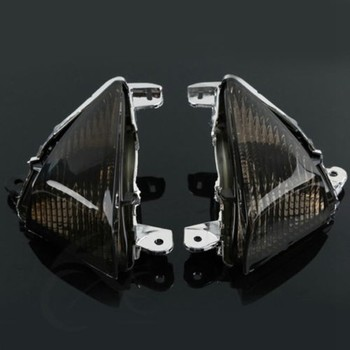 Motorcycle Black/Clear Lens Turn Signal Indicators For KAWASAKI ZX10R 2006-2007 ZX6R 05-11 Z1000 2007-2012 2008 2009 2010 2011 motorcycle chrome gear shift pedal lever for kawasaki ninja zx10r 2006 2010 zx6r 2005 2011