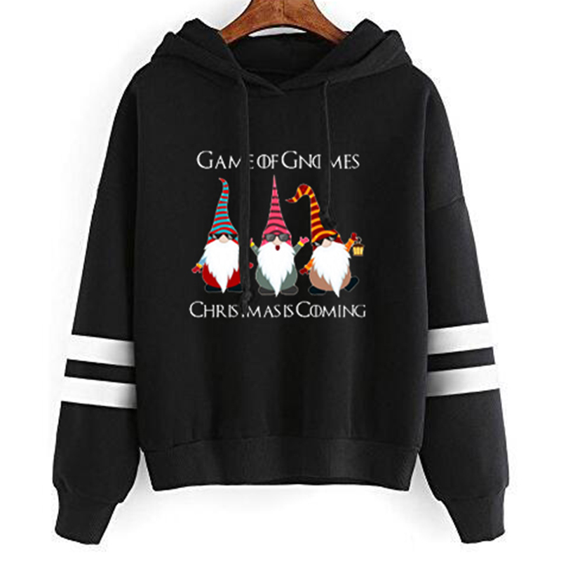 Funny Game Of Gnomes Hoodies Women Harajuku Christmas Is Coming Snow Sweatshirt Gothic Woman Print Casual Hoodie