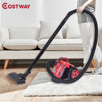 Costway 700 W Bagless Cord Rewind Canister Vacuum Cleaner W/ HEPA Filtration Home Multi Surface Cleaning Vaccum Cleaner EP23077