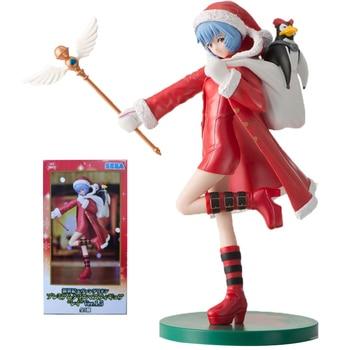 Original EVA Ayanami Rei Anime Action Figure Toys Christmas Costumes 100% Genuine 35454 Collectible Figurine Statue Model 23cm original death note 2pcs anime collectible figure l lawliet light yagami model figurine action toys statue genuine figures